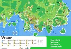 Vrsar tourist map