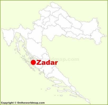 Zadar Location Map
