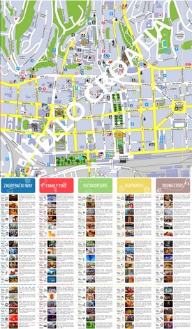 Zagreb tourist attractions map