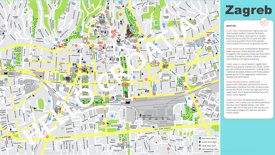 Zagreb tourist map