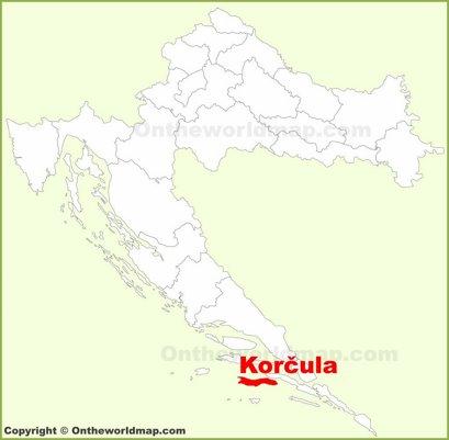 Korčula Location Map