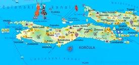 Korčula tourist map