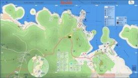 Town of Korčula tourist map