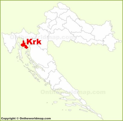 Krk Location Map