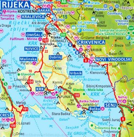 Krk tourist map