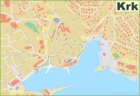 Town of Krk map