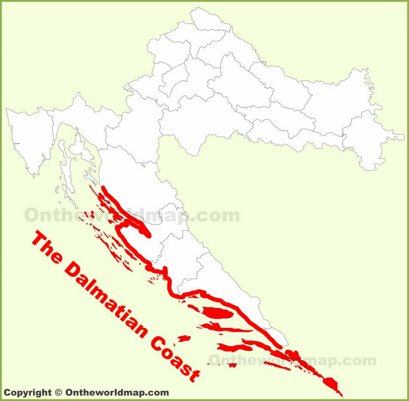 Dalmatian Coast Location Map