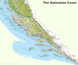 Dalmatian Coast tourist map