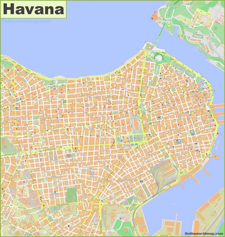 Havana City Center Map