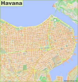 Havana City Center Map