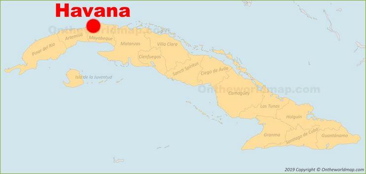 Havana location on the Cuba Map