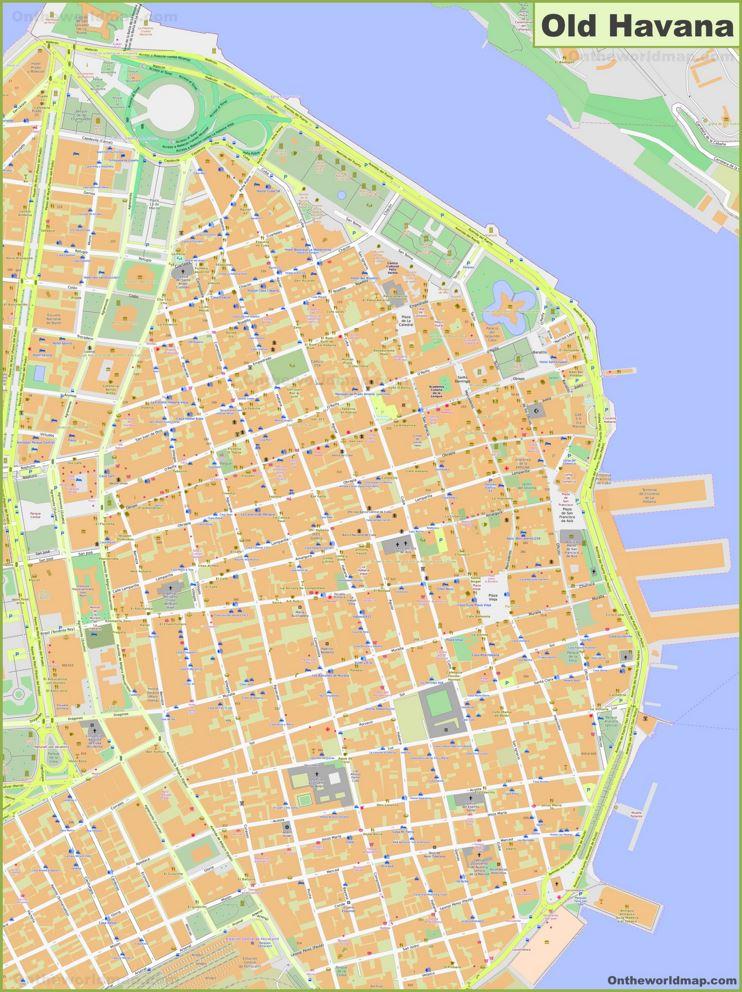 Old Havana Map