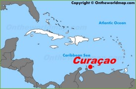 Curaçao location on the Caribbean map