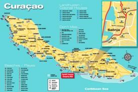 Curaçao tourist map