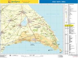 Ayia Napa area tourist map