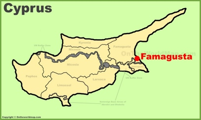 Famagusta Location Map