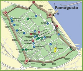 Famagusta tourist map