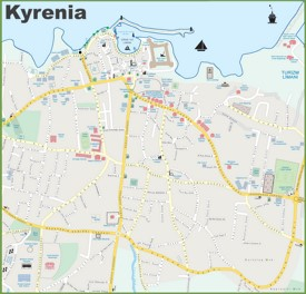 Kyrenia tourist map