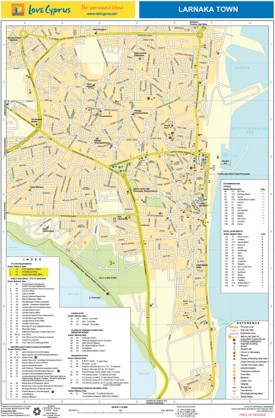 Larnaca hotel map