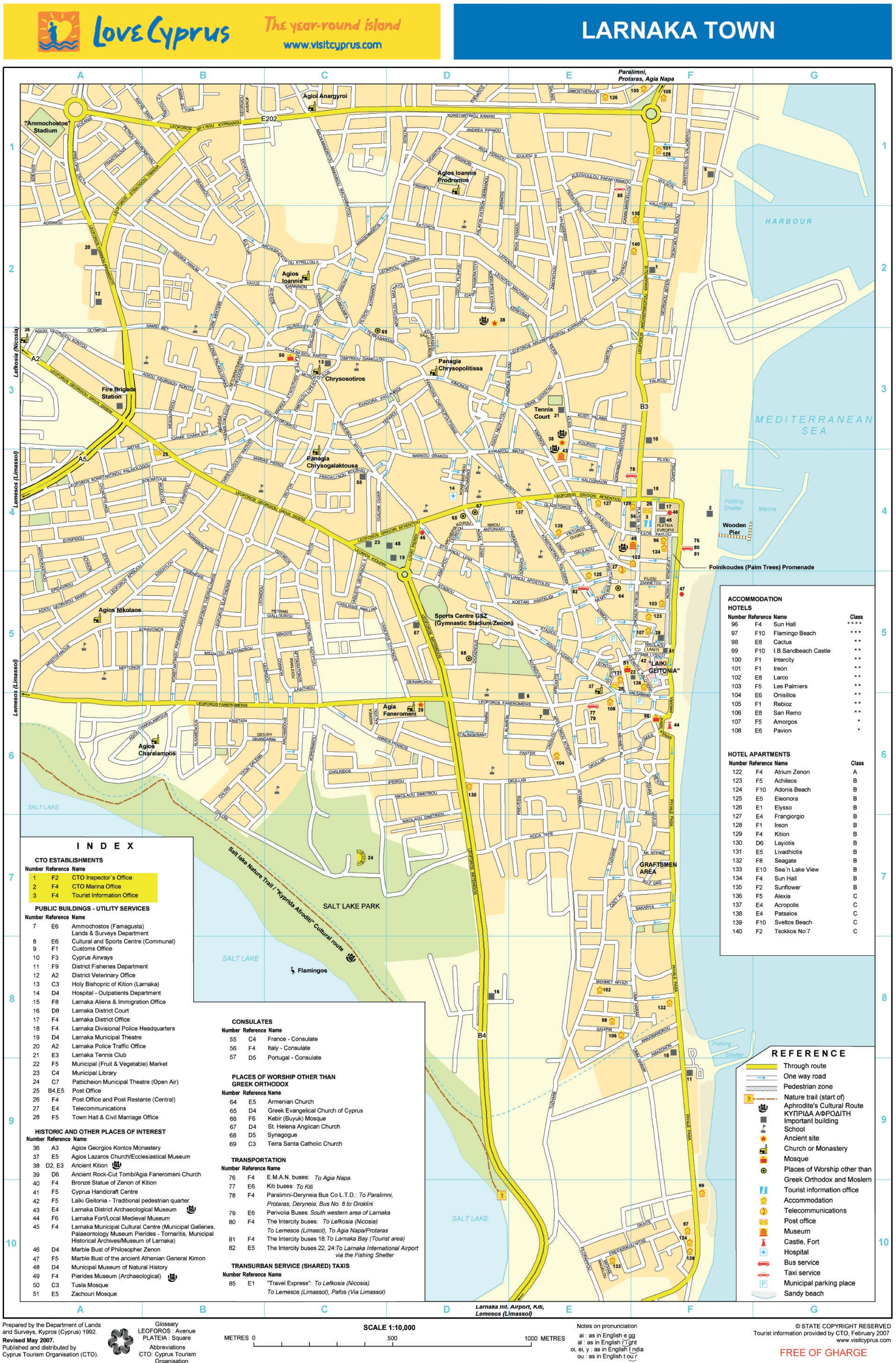 Larnaca hotel map larnaca hotel map gumiabroncs Image collections