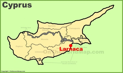Larnaca Location Map