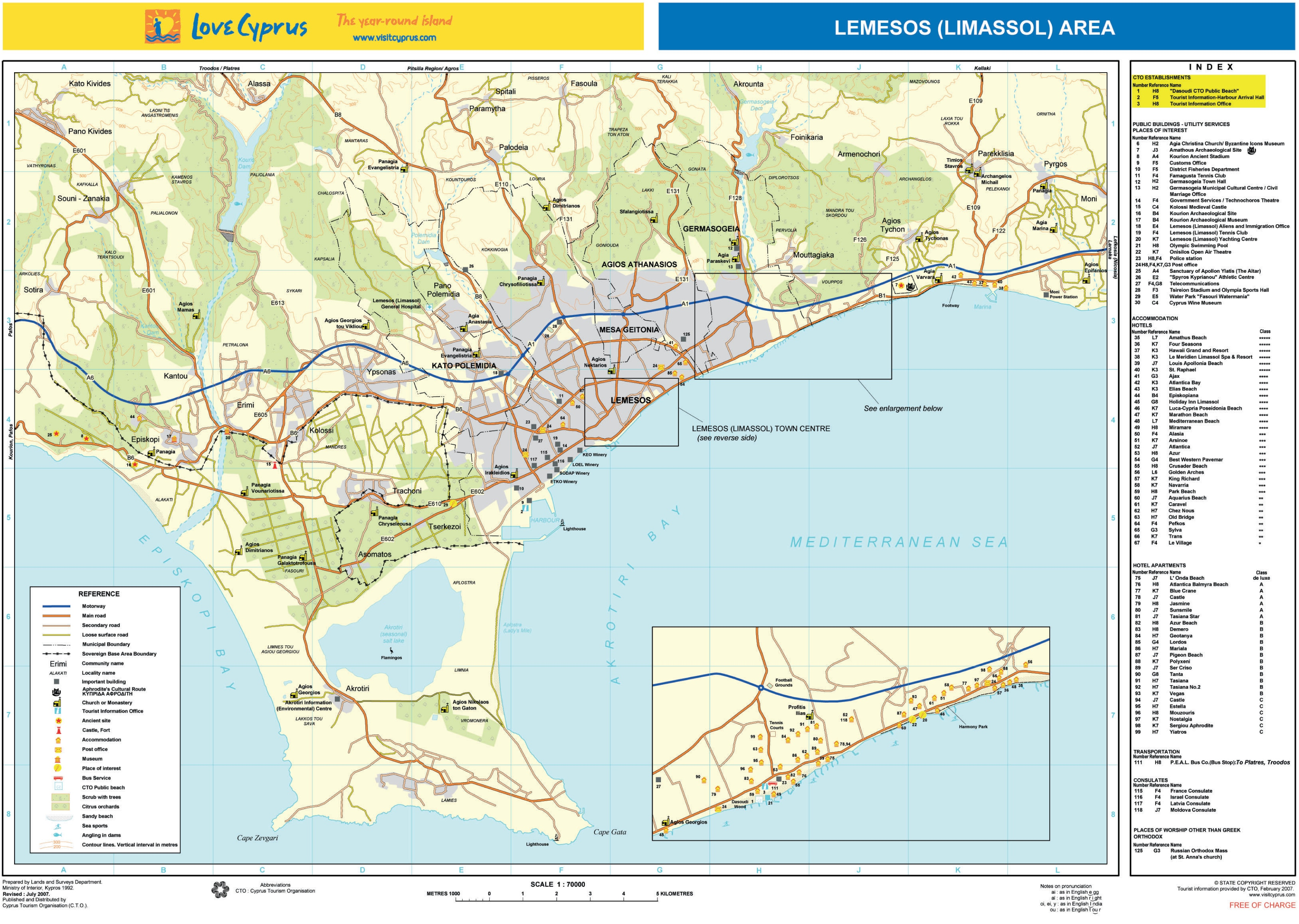 Limassol area tourist map limassol area tourist map gumiabroncs Images