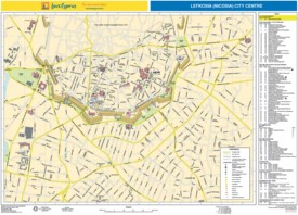 Nicosia city center map