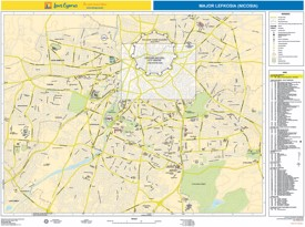 Nicosia hotels and sightseeings map