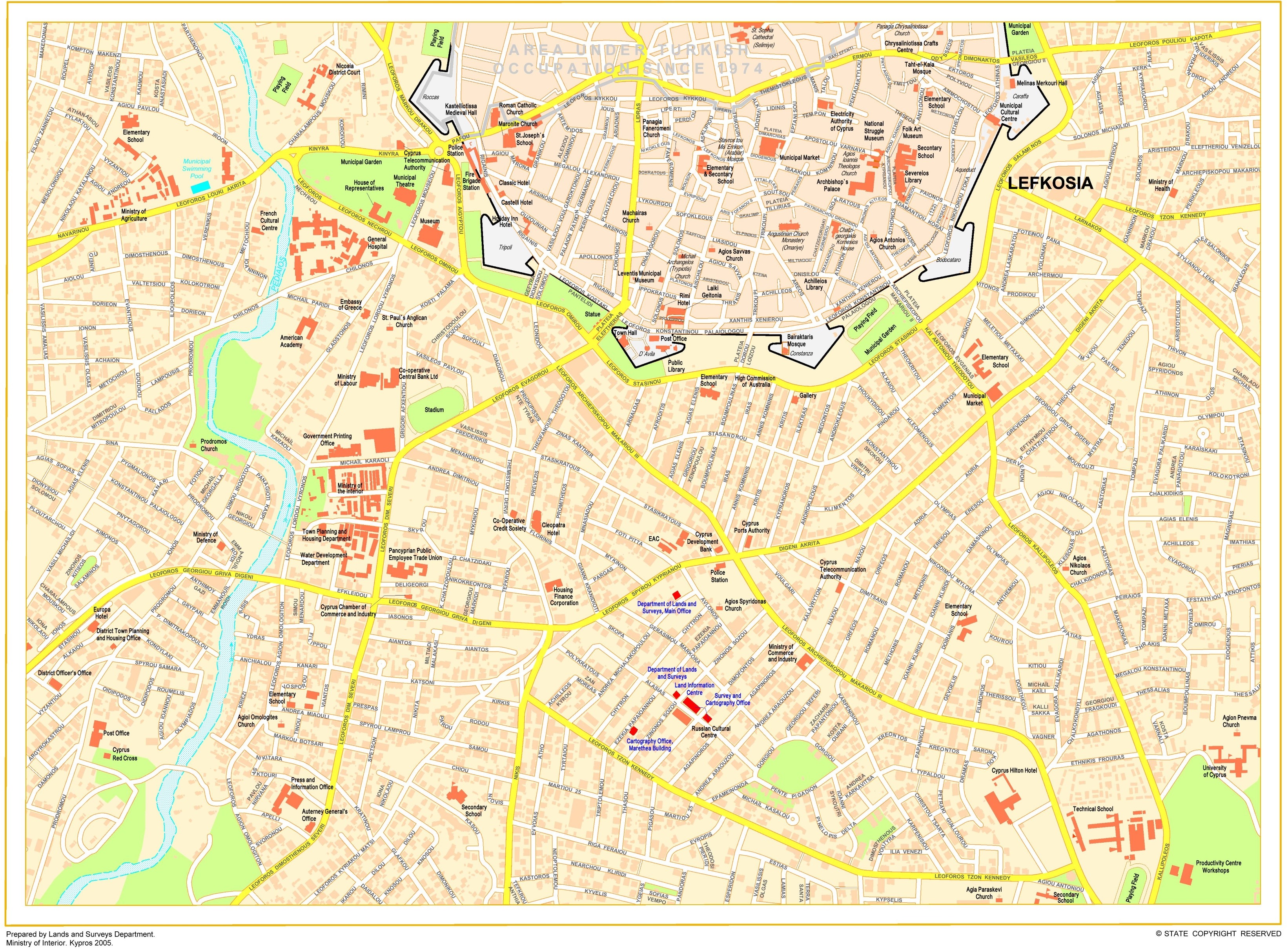 Nicosia Tourist Map - nicosia map