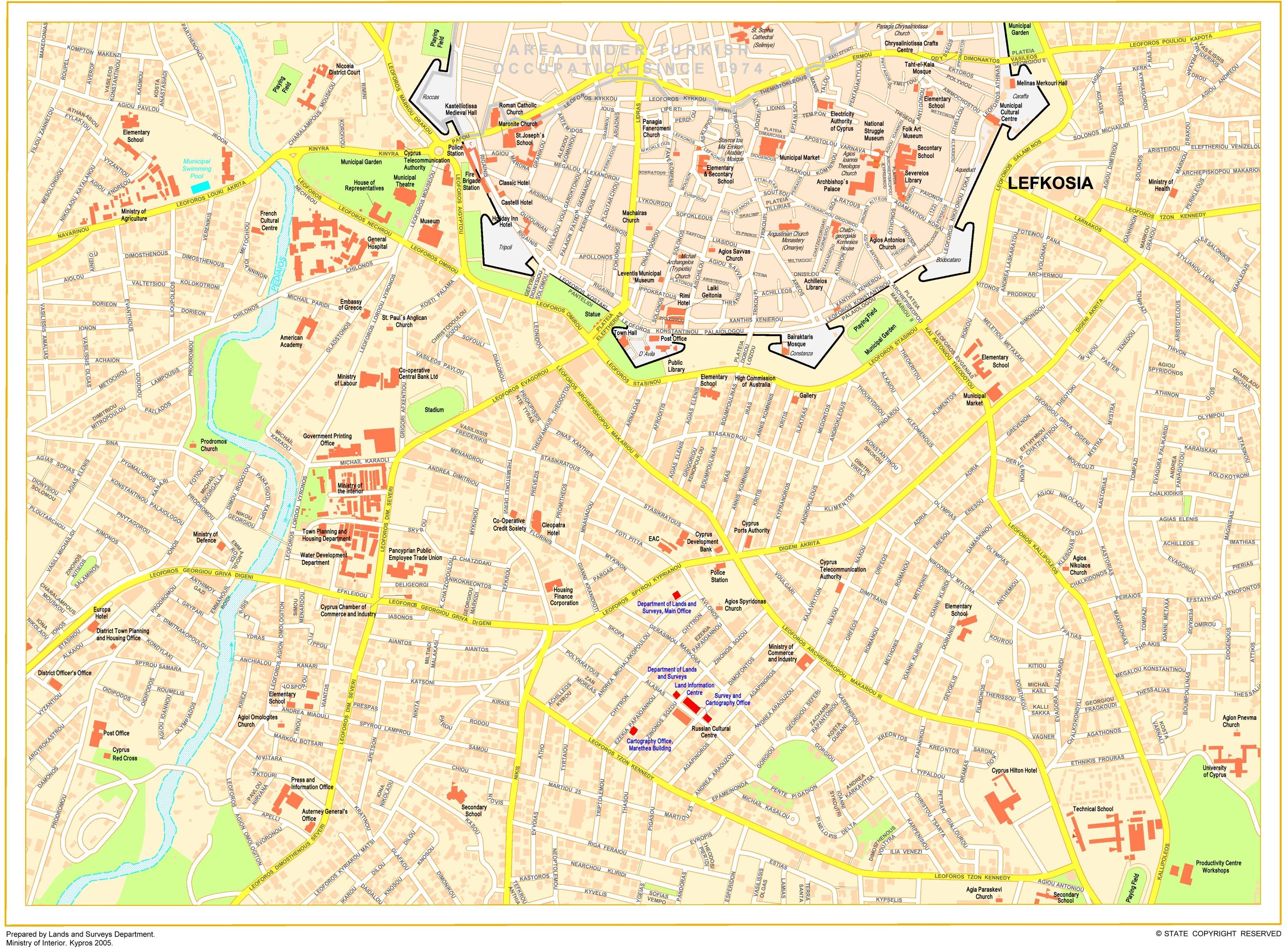 Nicosia tourist map
