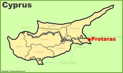 Protaras Location Map