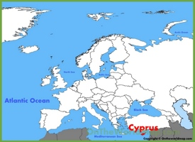 Cyprus location on the Europe map
