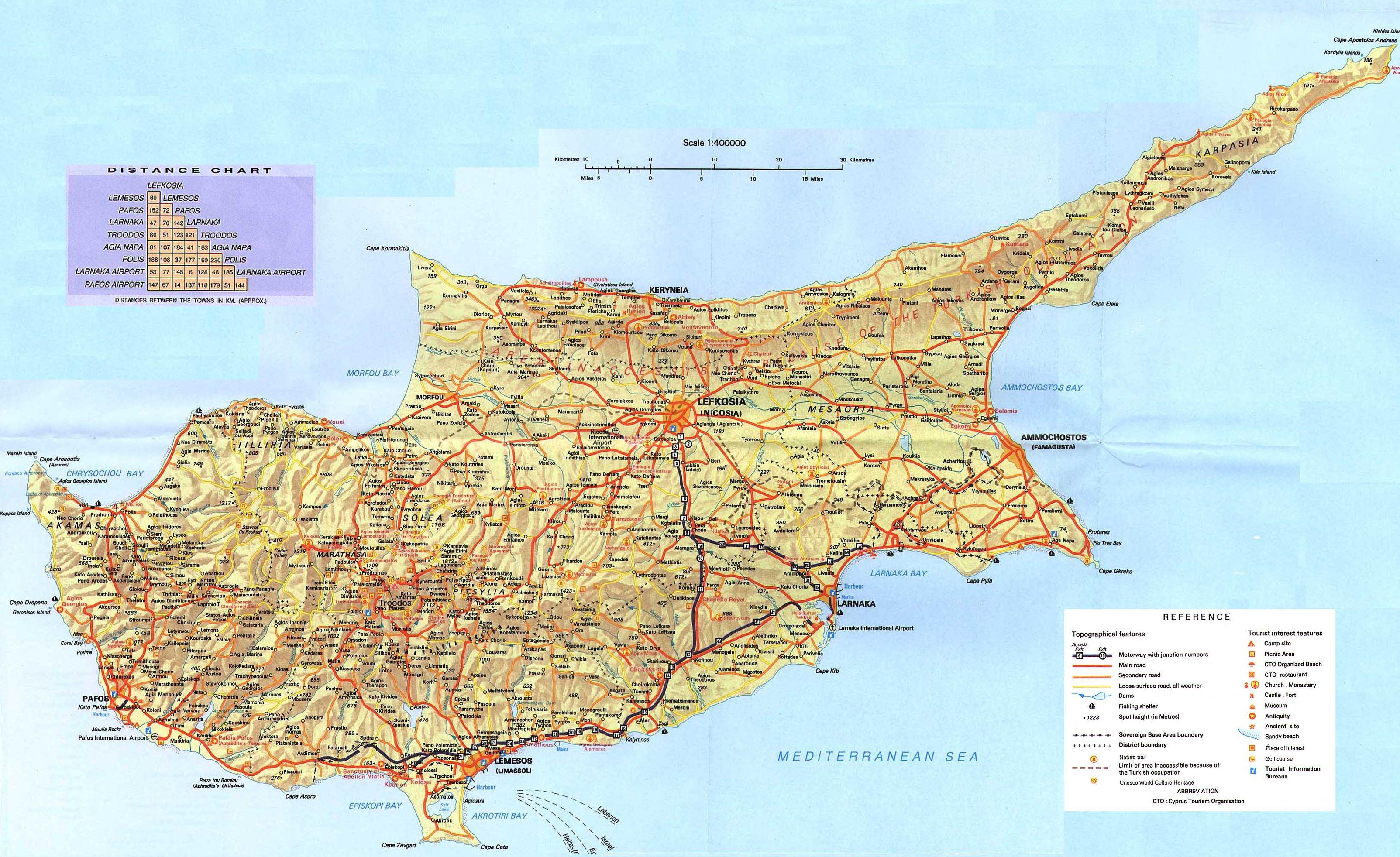 Cyprus Maps Maps of Cyprus