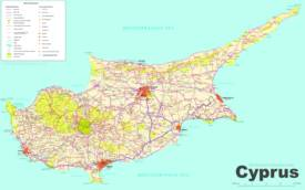 Cyprus Sightseeing Map