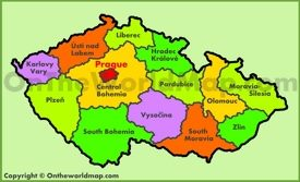 Administrative map of Czech Republic