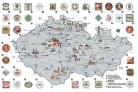 Beer map of Czech Republic