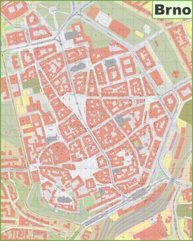 Brno city center map