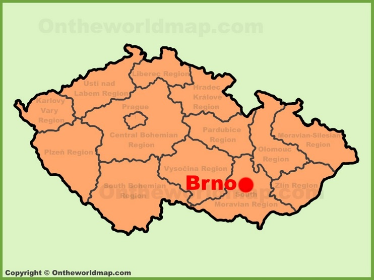 Brno location on the Czech Republic map
