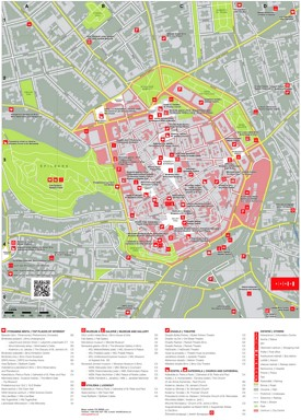 Brno tourist attractions map
