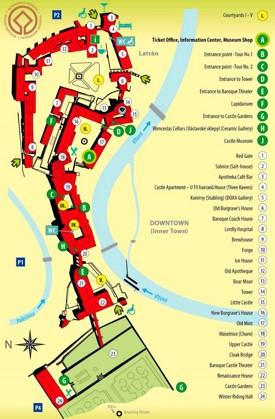 Český Krumlov Castle map