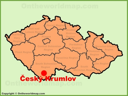 Český Krumlov Location Map