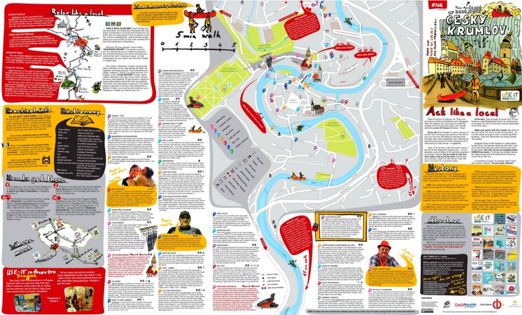 Český Krumlov tourist map