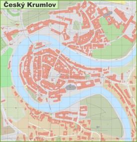 Detailed map of Český Krumlov