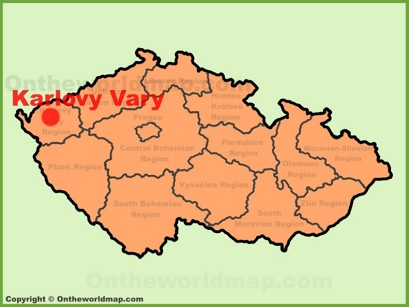 Karlovy Vary Location Map