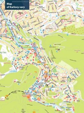 Karlovy Vary tourist map