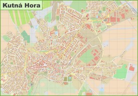 Detailed map of Kutná Hora