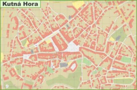 Kutná Hora city center map