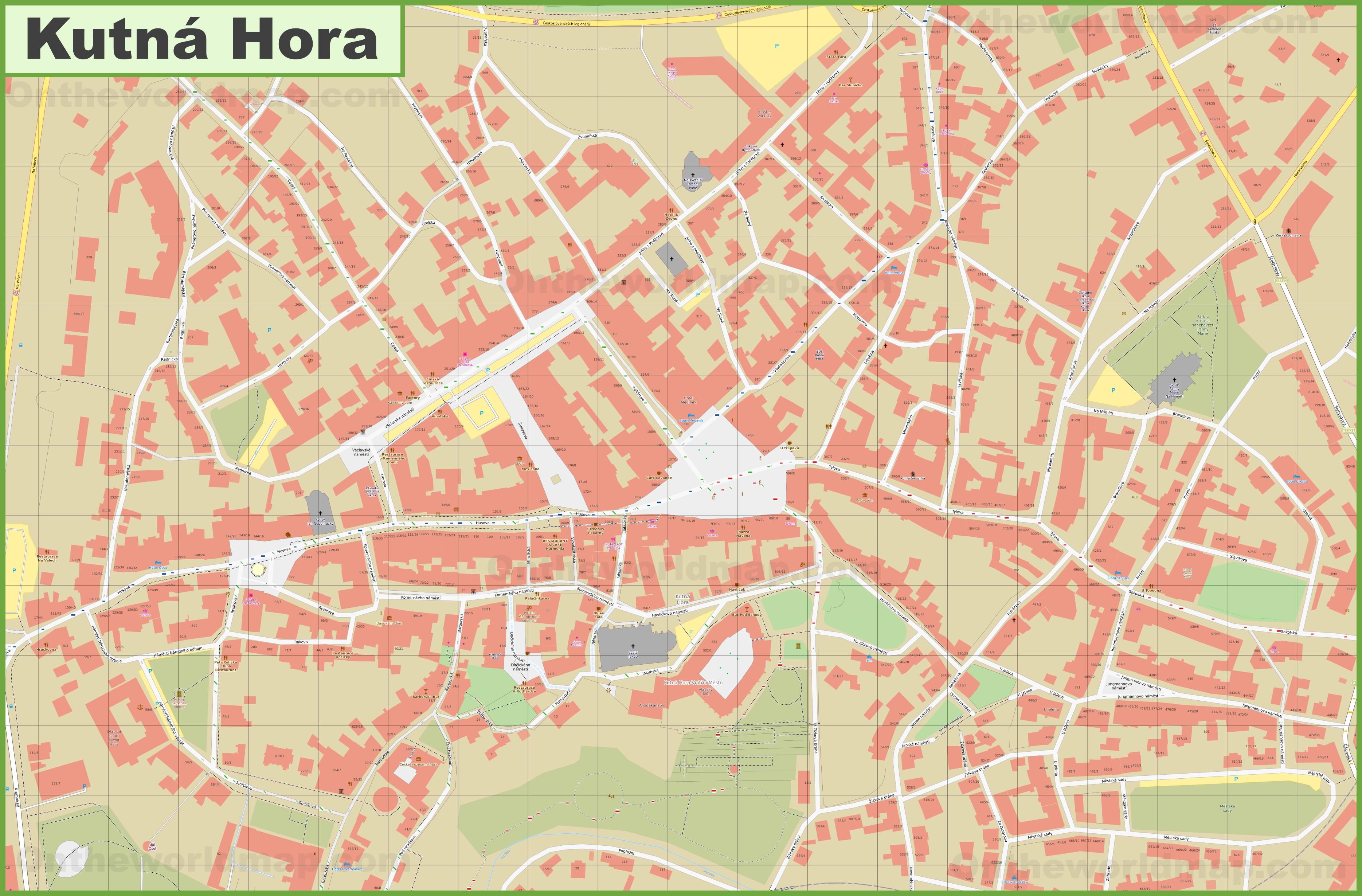 Kutna Hora City Center Map