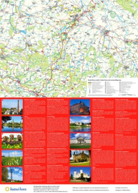 Tourist map of surroundings of Kutná Hora