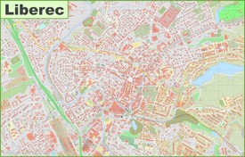 Detailed map of Liberec